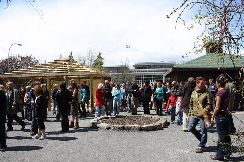 Inauguration du Jardin pédagogique Aux Portes du temps