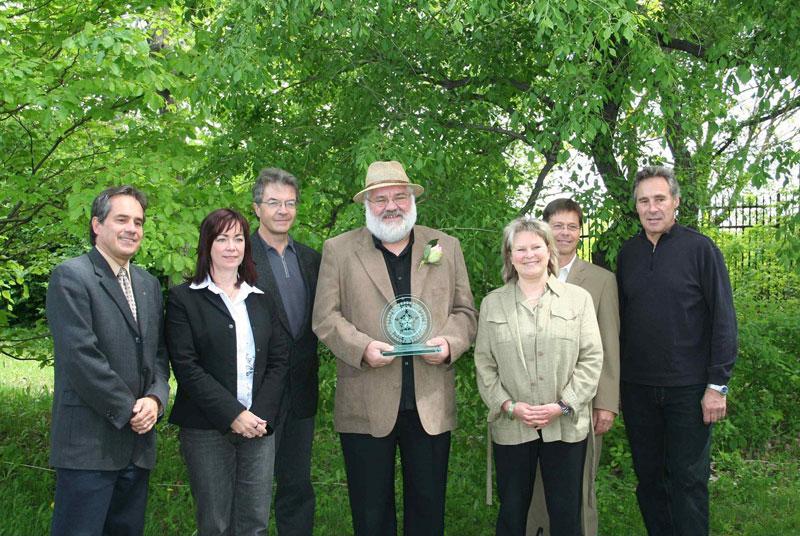 Prix Henry Teuscher remis à Jean-Claude Vigor, Jardin Botanique
