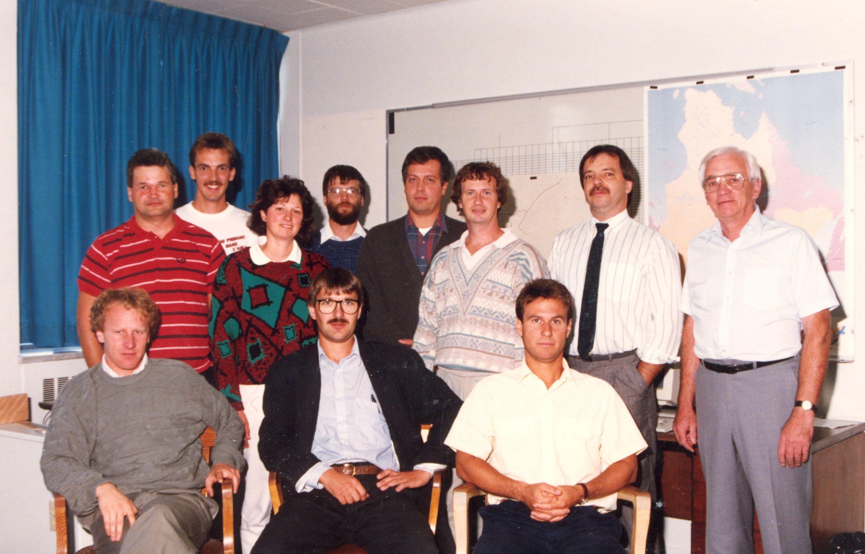 1990-GEEA-Michel Cote-Michel Jette-Daniel Levesque-Vital GAgnon-Christian Bourdeau-Mireille Gagne