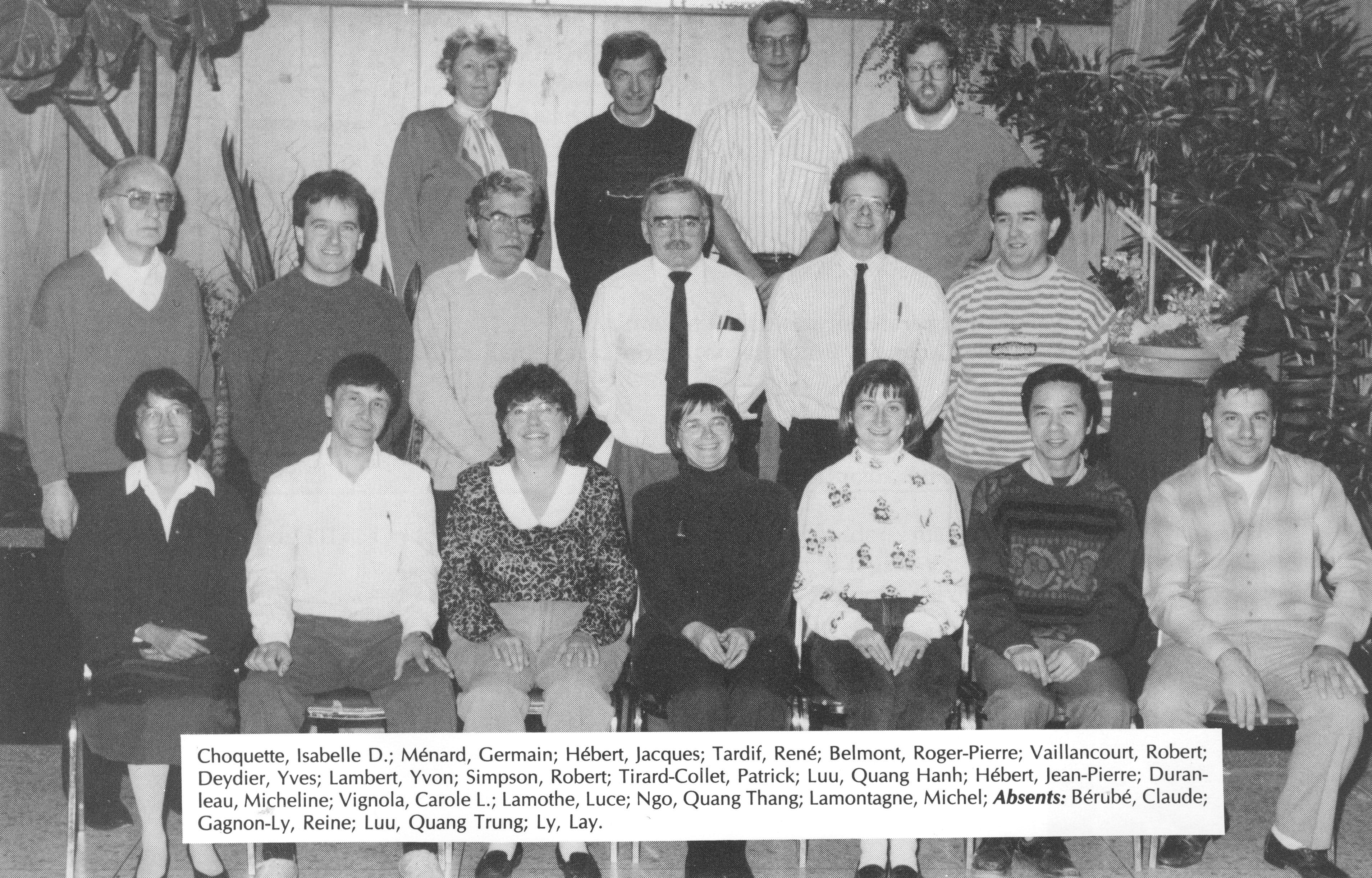 1994-Alimentaire-I Choquette-G Ménard-J Hébert-R Tardif-Roger Belmont-Pierre Roger-R Vaillancourt